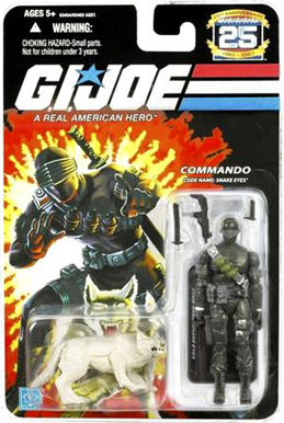 GI Joe 3 3/4 inch Snake Eyes with grey timber Action Figure